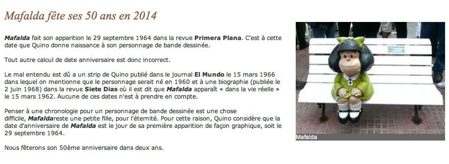 Les 50 ans de Mafalda