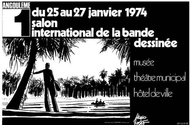 Affiche-Salon-bande-dessinee-angoulemes-1974-Hugo-Pratt
